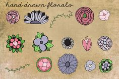 I just released Hand Drawn Floral Clip Art on Creative Market.