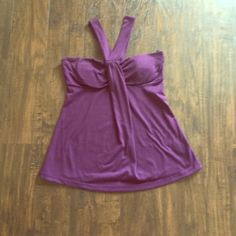 Purple strappy top Purple strappy top. Size small. Tops Tank Tops