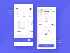 Dribbble_smart_home.png by Patryk Szymański Mobile App Ui, Mobile App Design, Light Switches And Sockets, Modern Website, Tv App, App Design Inspiration, Ui Ux Design, Logo Design, Smart Home
