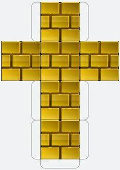 Super Mario Downloadable Gold Block Template
