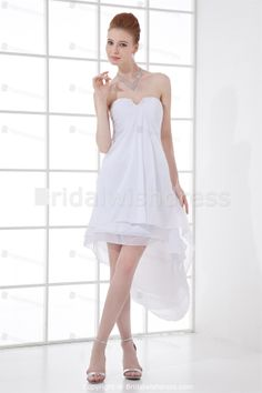 Beautiful Sleeveless Chiffon Silk-like Satin V-neck Homecoming 2013 -Special Occasion Dresses-Homecoming 2013
