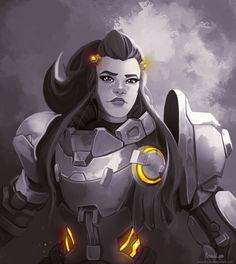 Overwatch Support, Brigitte Overwatch, Brigitte Lindholm, Overwatch Females, Overwatch Fan Art, Overwatch Drawings, Heroes Of The Storm, Widowmaker, Fantasy Warrior
