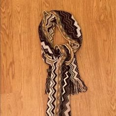 Missoni scarf Black, grey, white, blue missoni scarf. Excellent condition except for small snag as pictured! Missoni Accessories Scarves & Wraps