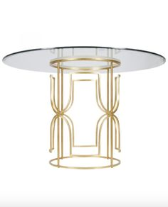 Gold Leaf & Glass Top Dining Table – Allissias Attic & Vintage French Style