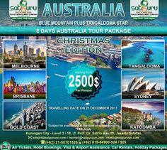 Satguru Indonesia - Travel Management Company, 9 : Hello travelers, satu lagi kesempatan liburan bersama kami dalam Paket Christmas Edition sambil berpetualang dengan mengunjungi beberapa lokasi wisata menarik dan indah di Australia selama 8 hari dengan harga terjangkau dan nyaman. Ikuti kesempatan terbatas ini. 👉Hubungi kami dan pesan sekarang juga! *harga sewaktu-waktu bisa berubah. -------------------------- 💳Dapatkan diskon dan promo khusus lainnya di bulan ini…