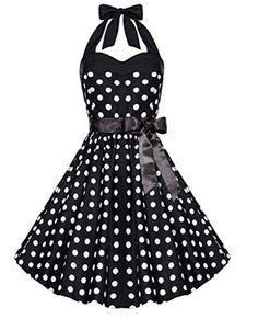 Fancyqube Hepburn Women 1950s Vintage Polka Dot Rockabilly Halter Dress, http://www.amazon.com/dp/B012VJTQI4/ref=cm_sw_r_pi_awdm_XxZ8vb10DFDM5