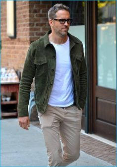 Take a Casual Style Note from Ryan Reynolds: Embrace the Suede Jacket