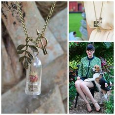 Terrarium Necklaces Combine Jewelry-Making and Gardening - by Katie O'Dare