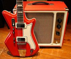 The Tone king just made me want to go onto craigs list by an old tv smash out the tube and build an amp Nice pair. Airline guitar, Tone King Falcon amp.