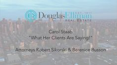 "Robert Sikorski & Bernice Busson "" Why They Choose Carol Staab"""