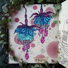 WEBSTA @ faynnn - @misspiloute and I have the pleasure to show you our collaboration on the same page in the book of Sommarnatt Please go watch her wonderful jewel flowers on her page ☆☝☆ #coloriage #coloring #colouring #coloriagepouradulte #adultcoloring #adultcolouring #coloringbook #livredecoloriage #arttherapie #arttherapy #colortherapy #pens #stabilo #stabilo68 #stabilo88 #fabercastell #fabercastellpitt #pittartistpen #mycreativeescape #sommarnatt #hannakarlzon