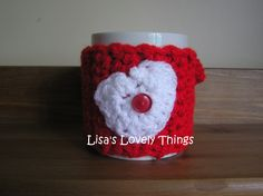 Heart Mug Cosy - The Supermums Craft Fair