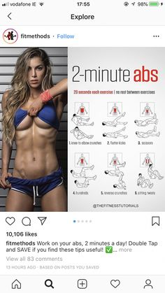 How to Get 6 Pack Abs Workout 6 Pack Abs Workout, Workout For Flat Stomach, Gym Workout Tips, Belly Fat Workout, Daily Exercise Routines, Fitness Motivation Pictures, Gym Motivation, Health Fitness, Healthy