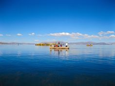 the calm, peacefulness of floating on Lake Titicaca