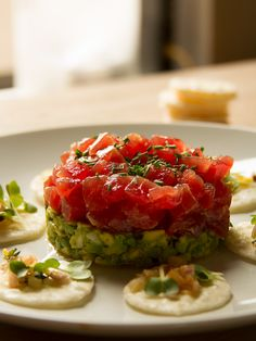 The Best Seafood Tartare Recipes on Yummly Fish Recipes, Seafood Recipes, Great Recipes, Cooking Recipes, Healthy Recipes, Food Presentation, Food For Thought, Sushi, Food Inspiration