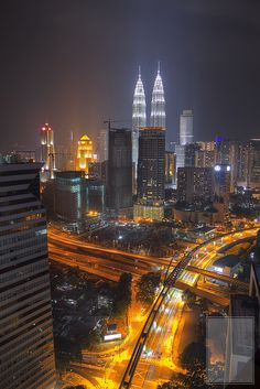 Kuala Lumpur Cityscape at Night | Flickr - Photo Sharing!