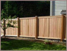 Uncommon White Privacy Fence