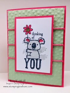 Kind Koala Colored with a Swoosh from Work of Art - How To Video, Kay Kalthoff is Stamping to Share with Stampin' Up!