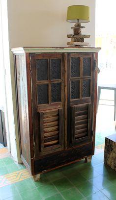 Rustic cupboard @ our store Living Green Furniture Curaçao - Pietermaai