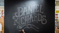 Daniel Richards Chalk Lettering Installation by Chris Yoon. A large-scale chalk installation for Daniel Richards, a stationery & fine gift rep group based out of Atlanta, GA.