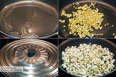 Palomitas de maíz. Pasos de la receta