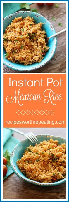 The most amazing Instant Pot Mexican Rice side dish made in 15 minutes!  It's so easy and effortless, you'll never want to revert back to the old-fashioned way of making it on the stove top!