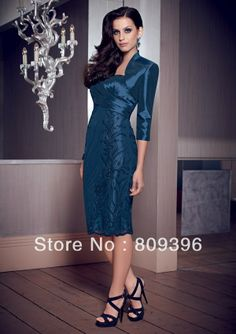 2014 New Arrival Sweetheart Sheath Lace Bead Satin Embroidery Elegant Mother of bride Dresses MO11 US $120.00