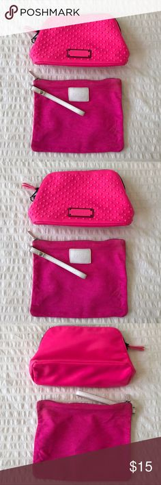 Lot of Two Victoria's Secret Makeup Bags! Set of two makeup bags from Victoria's Secret. In good condition. Perfect for travel or for daily use! 💄💅🏼👛 Victoria's Secret Bags Cosmetic Bags & Cases