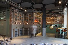 Kupp. Restaurant interior design designed by DesignLSM. Photography (c) James French Photography