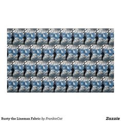 Rusty the Lineman Fabric
