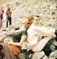 """cinemamonamour: """" """"Sophia Loren and Cary Grant on the set of The Pride and the Passion, Spain 1957. © Sam Shaw"""" """""""