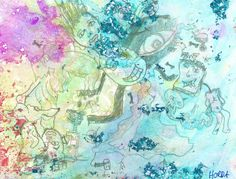 Dream World Watercolor 6x4.5 Abstract Watercolor by CreativeHorda