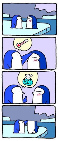 When a penguin gets sick…