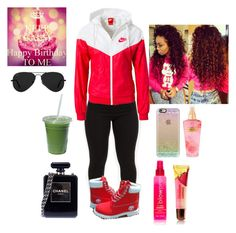 """""""Untitled #215"""" by curlss-wavyy-sexy ❤ liked on Polyvore featuring NIKE, Casetify, blow, Victoria's Secret, Chanel, Ray-Ban, women's clothing, women, female and woman"""
