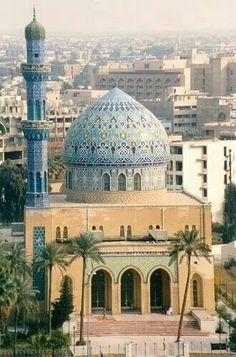 Baghdad, Iraq : Baghdad mosque, by The Poss Mosque Architecture, Religious Architecture, Beautiful Architecture, Art And Architecture, Bagdad, Islamic World, Islamic Art, Beautiful Mosques, Beautiful Places