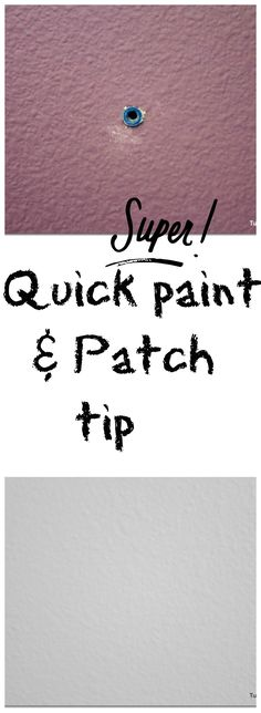 Tip on painting and patching walls.