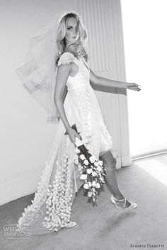Poppy Delevigne in wedding dress