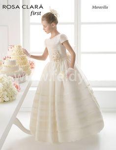 Vestido Comunión niña Rosa Clara 2015 Maravilla