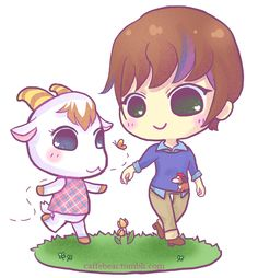 """""""Let's go for a walk, mayor~"""" If you don't think Chevre is adorable then you're wrong. n_n"""