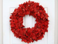 Poinsetta wreath *must remember to buy silk poinsetta after Christmas*
