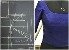 This is the best way to draft corset blouse. Side Dart is more important.Buy Online Blouse Drafts from Blouse Guru in Seconds. with different categories of Blouse Patterns.Front of choli shoulder princess cut Designer Blouse Patterns, Dress Sewing Patterns, Clothing Patterns, Blouse Designs, Corset Blouse, Saree Blouse, Blouse Tutorial, Sewing Blouses, Corset Pattern