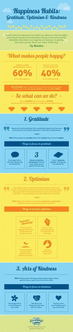 Happiness Habits: Gratitude, Optimism, & Kindness