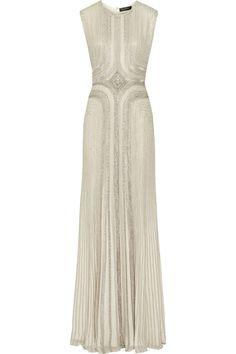 Jenny Packham|Embellished silk-chiffon gown|NET-A-PORTER.COM