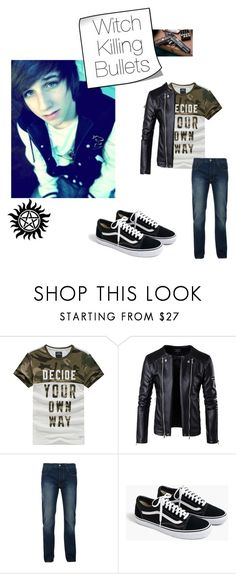 """""""Youngest Winchester of Sam Winchester"""" by aquamarin-lover ❤ liked on Polyvore featuring Bellfield, J.Crew, men's fashion and menswear"""