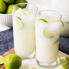 Easy Brazilian Lemonade (Limeade) Brazilian Lemonade, Brazilian Limeade - whatever you want to call it, this is one delicious and refreshing drink that we enjoy year round! Non Alcoholic Drinks, Cocktail Drinks, Beverages, Refreshing Drinks, Summer Drinks, Cold Drinks, Limeade Drinks, Lemonade Drink, Honey Lemonade
