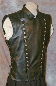 Sleeveless leather vest - For the Human Pincushion in Phreak Show.