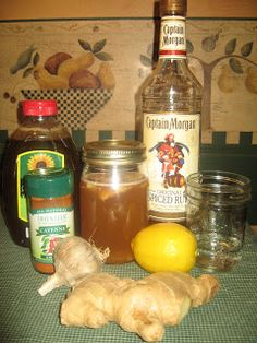 """Remedies For Colds """"The """"Mypos Cure"""" that I like to keep on hand for cold and flu season. I don't think my recipe is quite as unique as Balki's and far more palatable but it does the trick when colds and flu are making you miserable. Flu Remedies, Holistic Remedies, Herbal Remedies, Home Remedies, Cold Medicine, Natural Medicine, Herbal Medicine, Holistic Medicine, Natural Cold Remedies"""