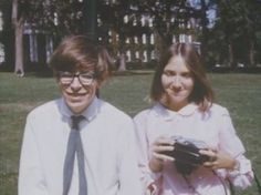 "Stephen Hawking & first wife Jane Wilde, 1962 they met through Hawking's sister shortly before he was diagnosed with motor neurone disease at 21. The couple were engaged in 1964 and Hawking would later say that his engagement ""gave him something to live for"" (.)"
