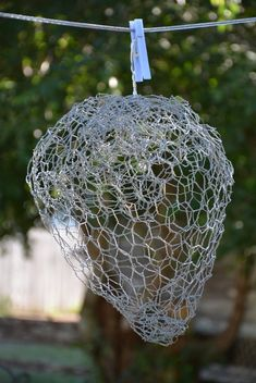diy fake wasp nest, crafts, decoupage, how to, pest control Wasp Traps, Fly Traps, Bug Control, Pest Control, Fake Wasp Nest, Homemade Fruit Fly Trap, Insecticide, Bees And Wasps, Humming Bird Feeders