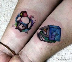 Fresh tattoos...one for each of my kids. I've got a gamer and a bookworm <3